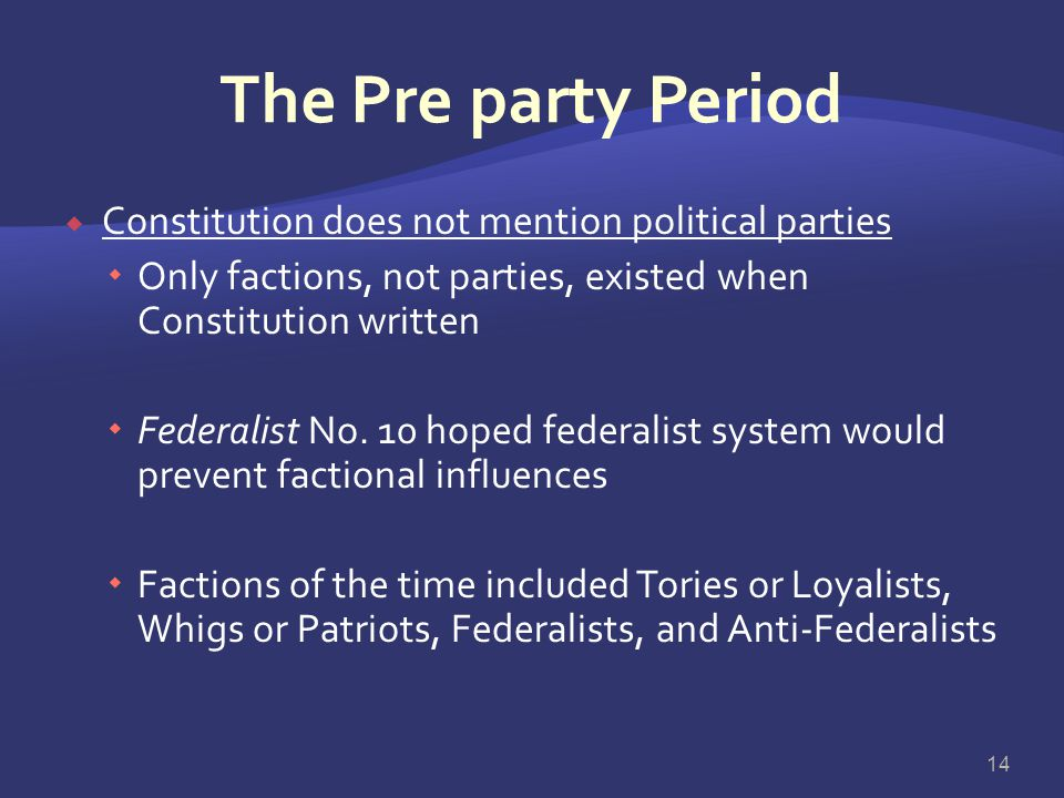 Coordinating the Actions of Government Officials  U.S. government's separation of powers divides responsibilities for policymaking  Political partie