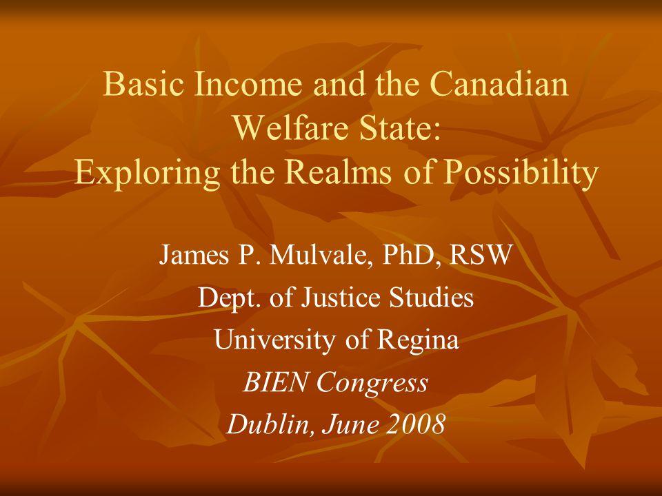 Situating the Canadian Debate Within the International BI Debate 1.