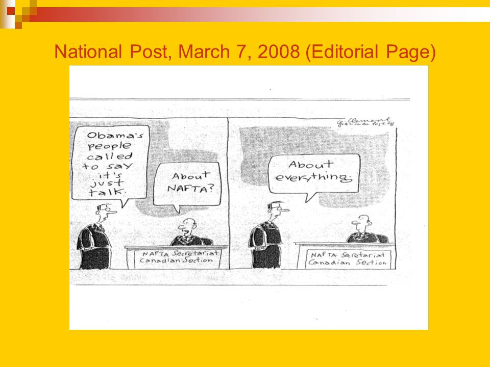 National Post, March 7, 2008 (Editorial Page)