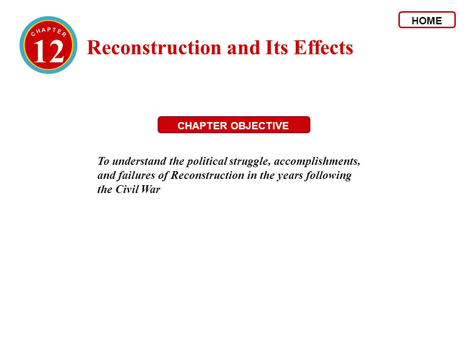 3 The Collapse of Reconstruction 4.