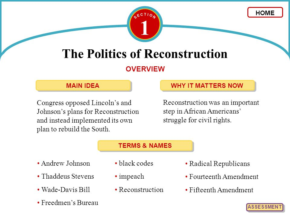 3 The Collapse of Reconstruction Southern opposition to Radical Reconstruction, along with economic problems in the North, ended Reconstruction.