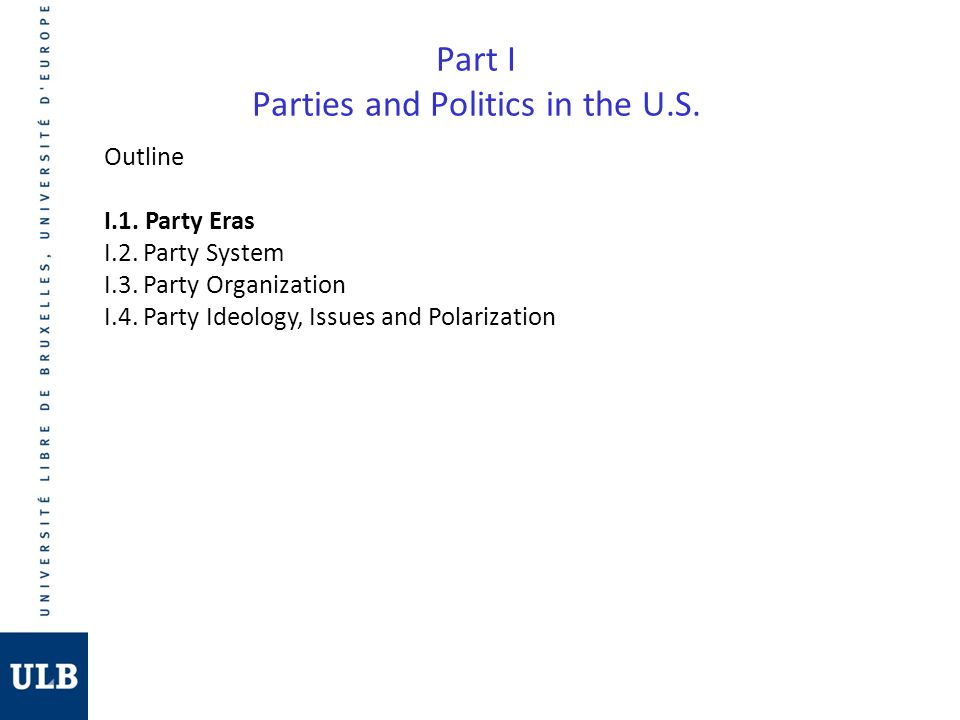 3.Party Eras 1.The First Party System (1800-1824): Federalists vs.