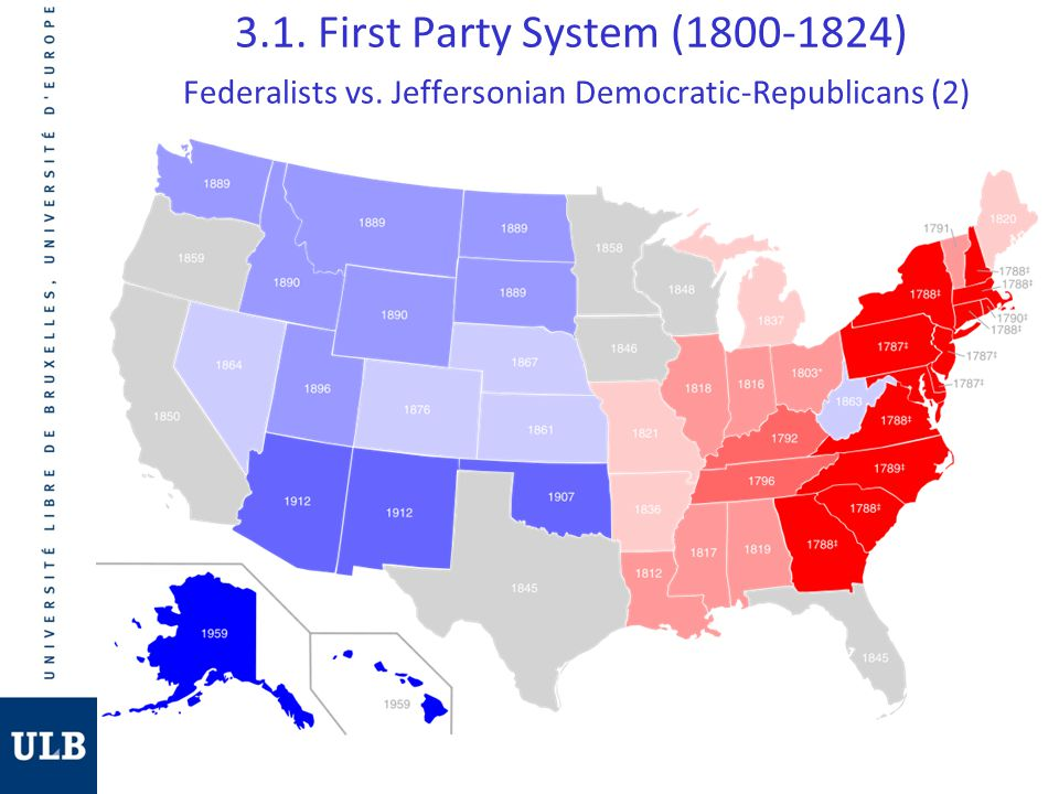 3.1. First Party System (1800-1824) Federalists vs. Jeffersonian Democratic-Republicans (2)