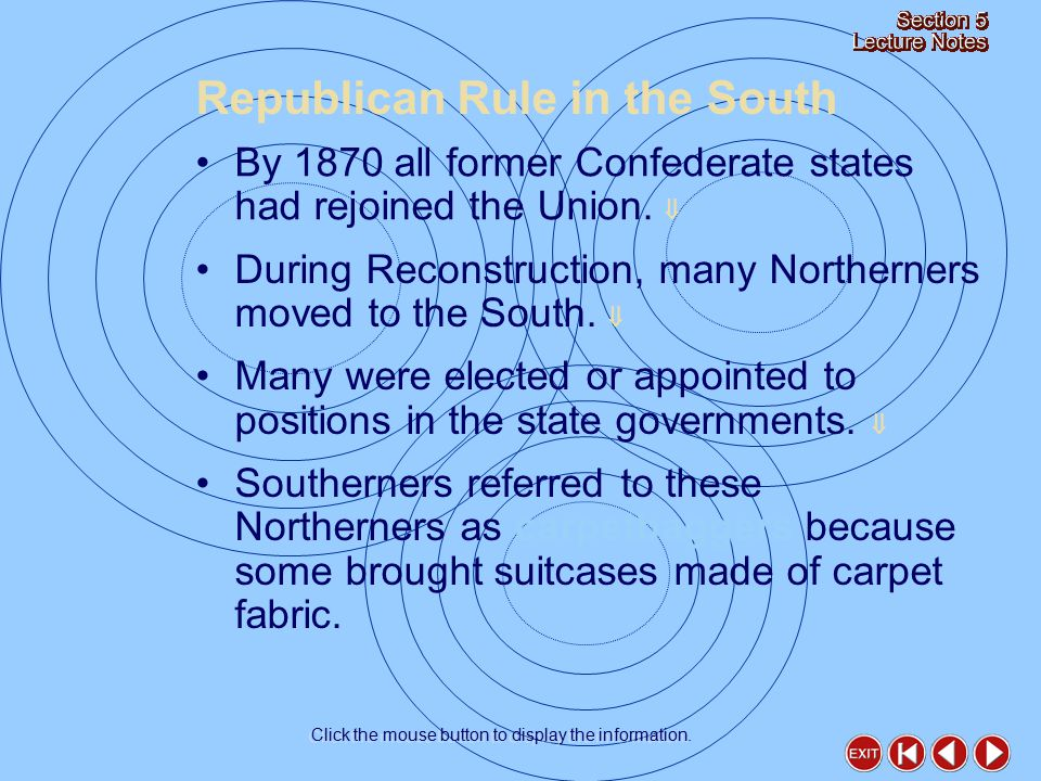 How did Democrats save the South from Republican rule.