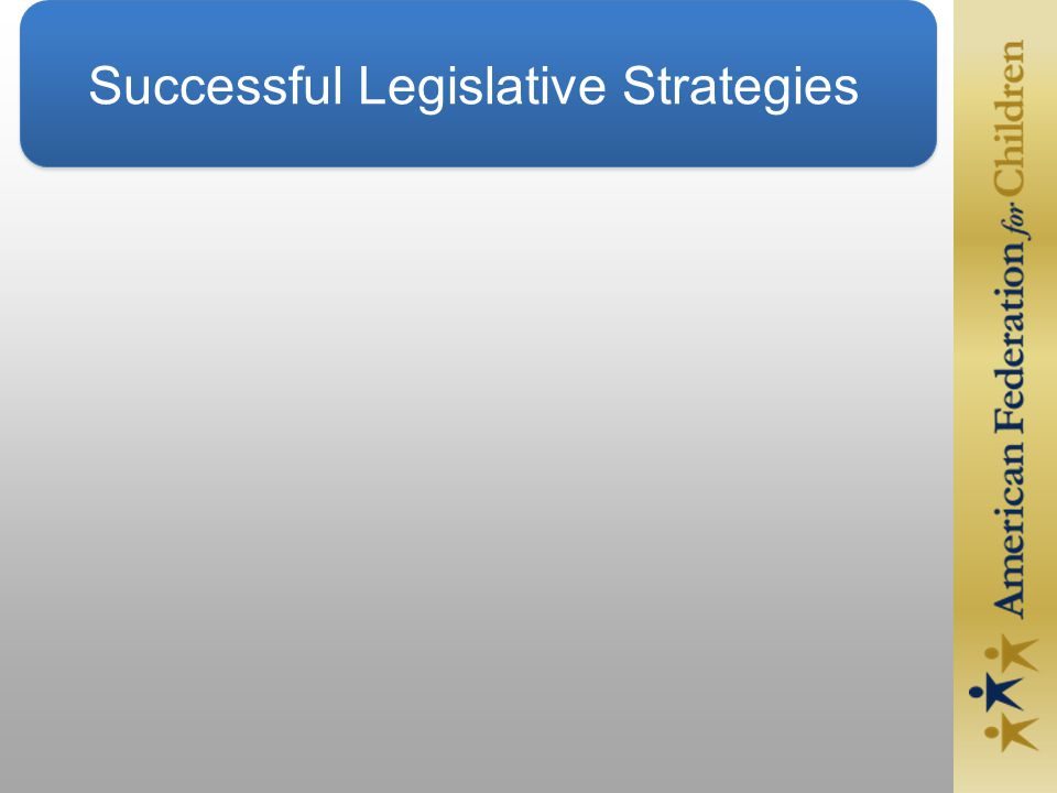 Successful Legislative Strategies