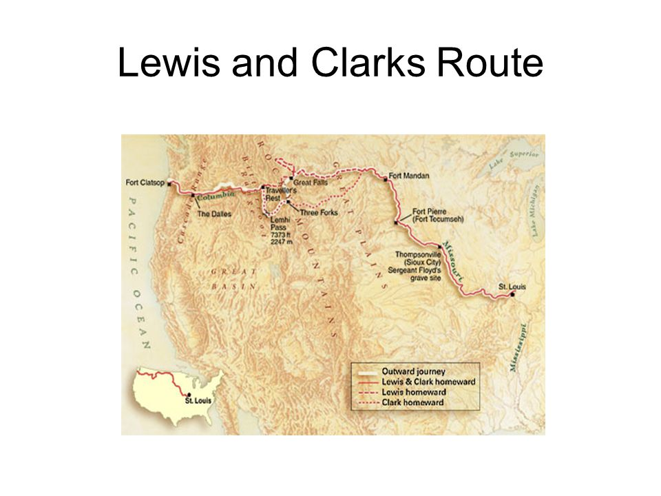 Lewis and Clarks Route
