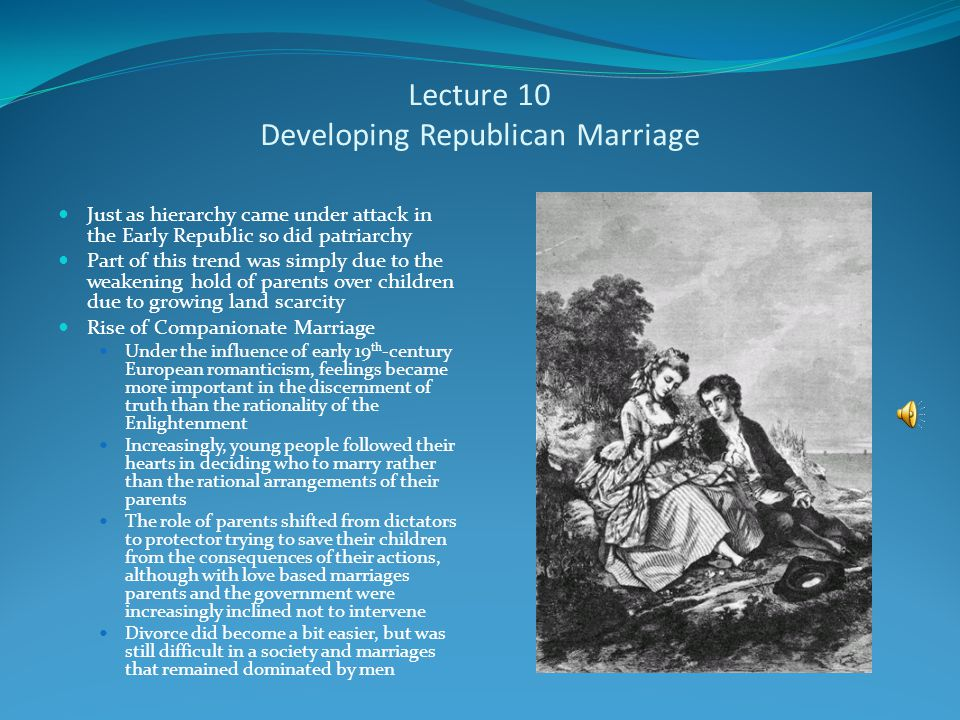 Lecture 10 The Rise of Democracy Americans in the Early Republic enjoyed unprecedented social and political equality—if they were white and male This equality was denied to women and African Americans Increasingly Americans rejected social hierarchy, but accepted social divisions that reflected personal achievements The attitude proved curious to Europeans where social advancement from humble origins often was seen as unnatural This proved a threat to Americans from wealthy and long established families Manifestations Increasingly state legislatures instituted white male suffrage cutting the tie between suffrage and property ownership Only 3 states had universal white male suffrage in 1800; 10 by 1830; all but two by 1860 Women briefly had suffrage in New Jersey in the early 1800s until the state legislature cut a loophole that had allowed it Torchlight parade With the rise of democracy politics had to have mass appeal
