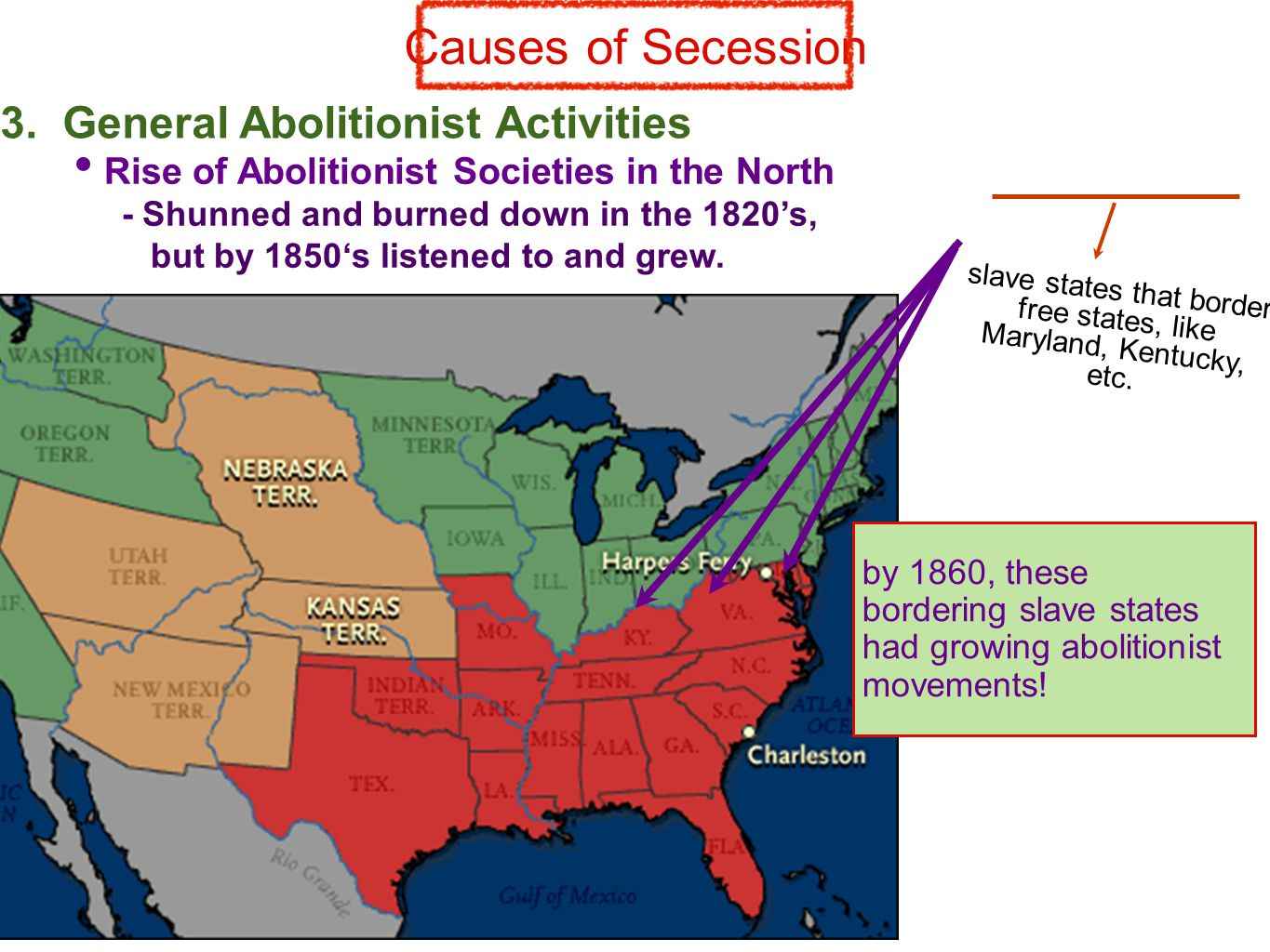 Causes of Secession 3.