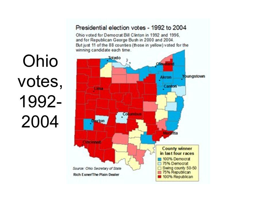 Ohio votes, 1992- 2004