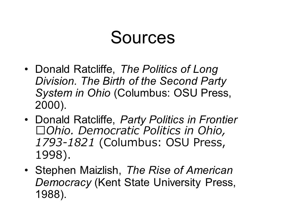 Sources Donald Ratcliffe, The Politics of Long Division.