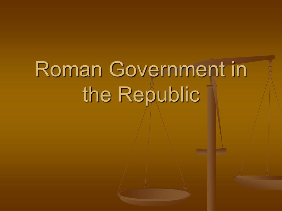 Roman Government in the Republic