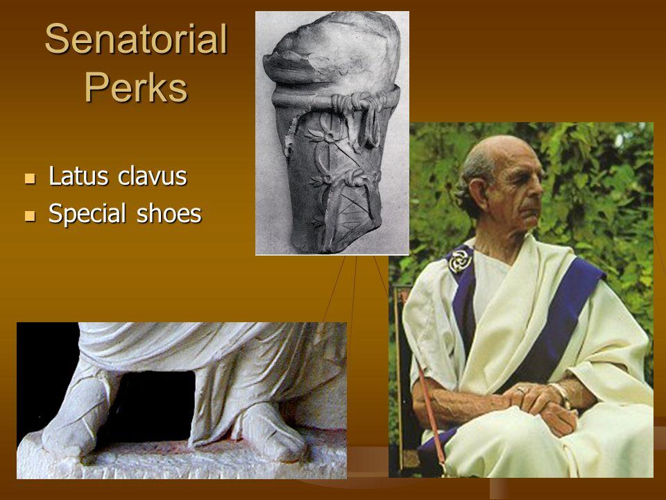 Senatorial Perks Latus clavus Latus clavus Special shoes Special shoes