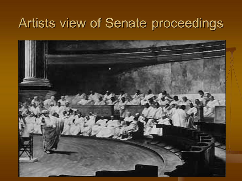 Artists view of Senate proceedings