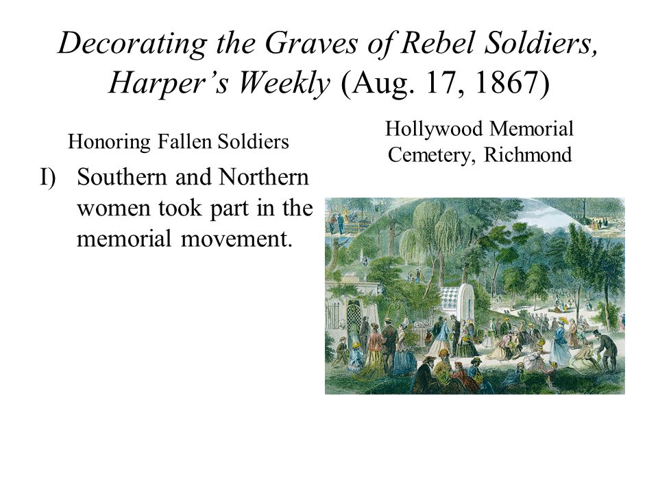 Decorating the Graves of Rebel Soldiers, Harper's Weekly (Aug.