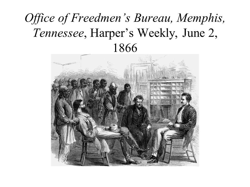 Office of Freedmen's Bureau, Memphis, Tennessee, Harper's Weekly, June 2, 1866
