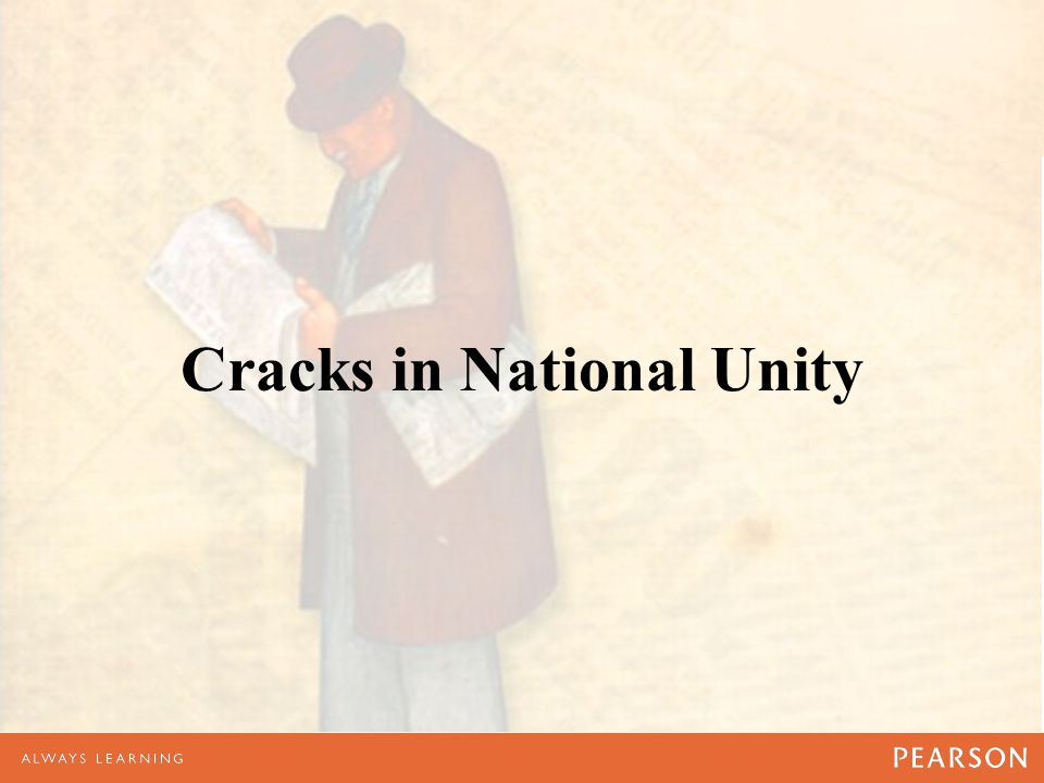 Cracks in National Unity