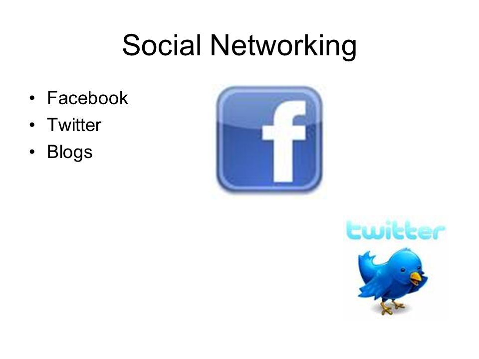 Social Networking Facebook Twitter Blogs