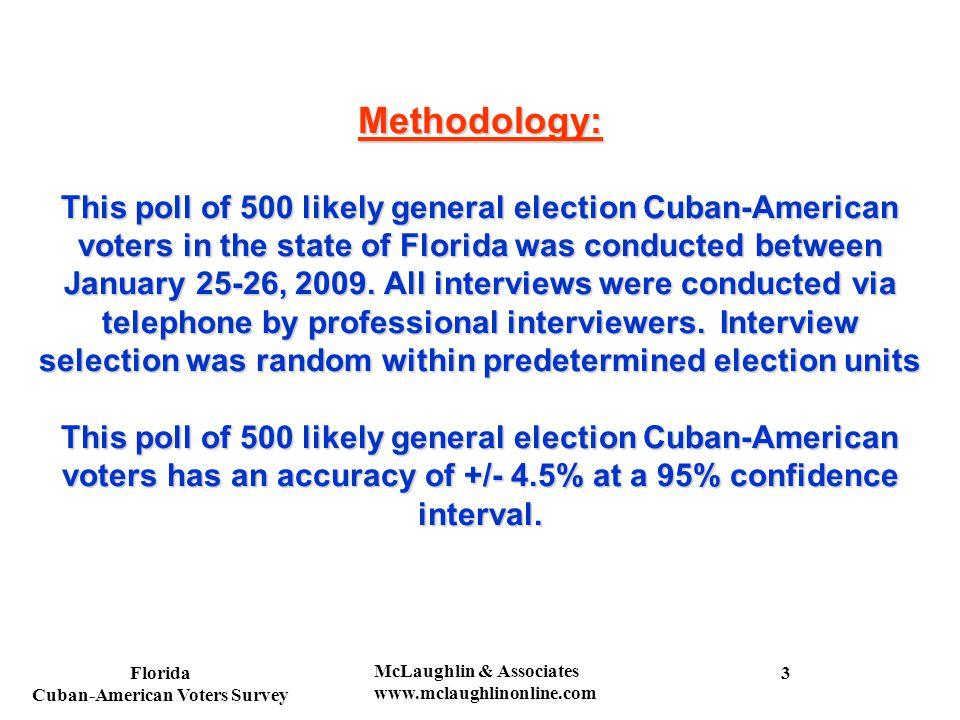 Florida Cuban-American Voters Survey McLaughlin & Associates www.mclaughlinonline.com Do you think Raul Castro will make democratic reforms in Cuba.