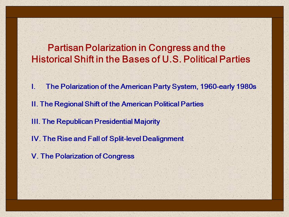 Partisan Polarization in Congress and the Historical Shift in the Bases of U.S.