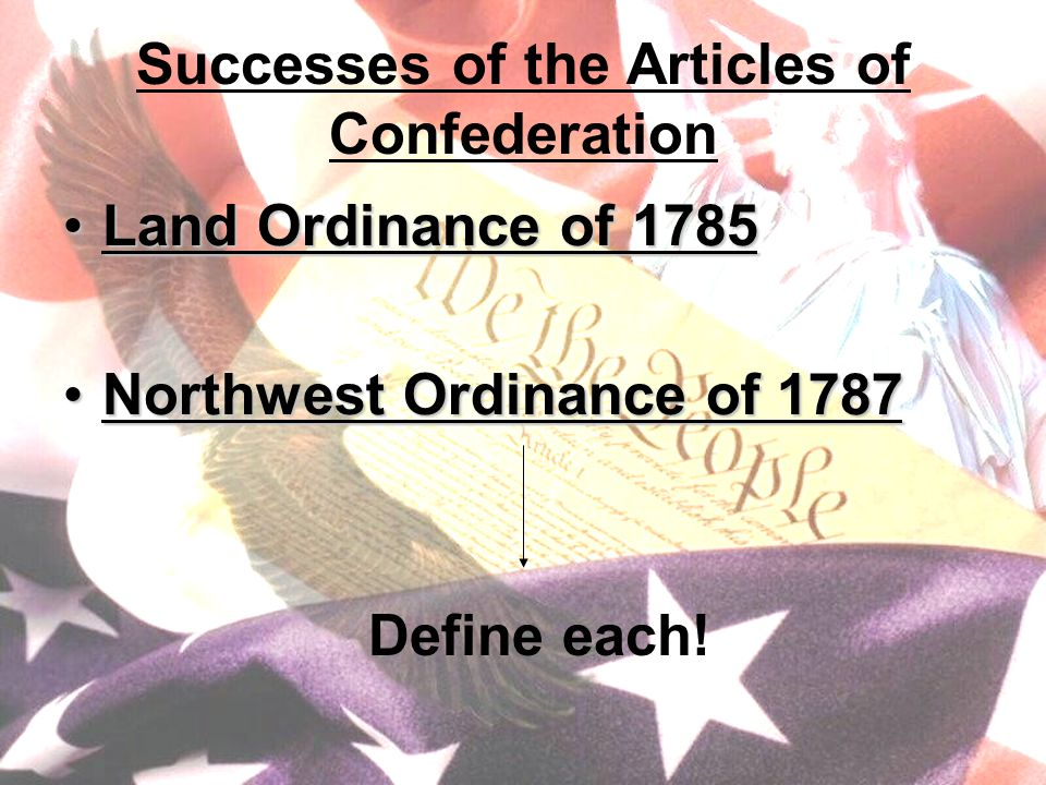 Land Ordinance of 1785 Land Ordinance of 1785: divided western land into townships (6mi.