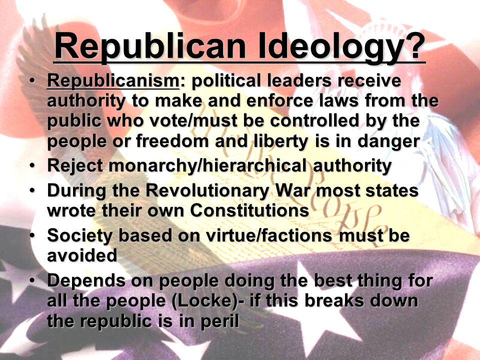 Republican Ideology.