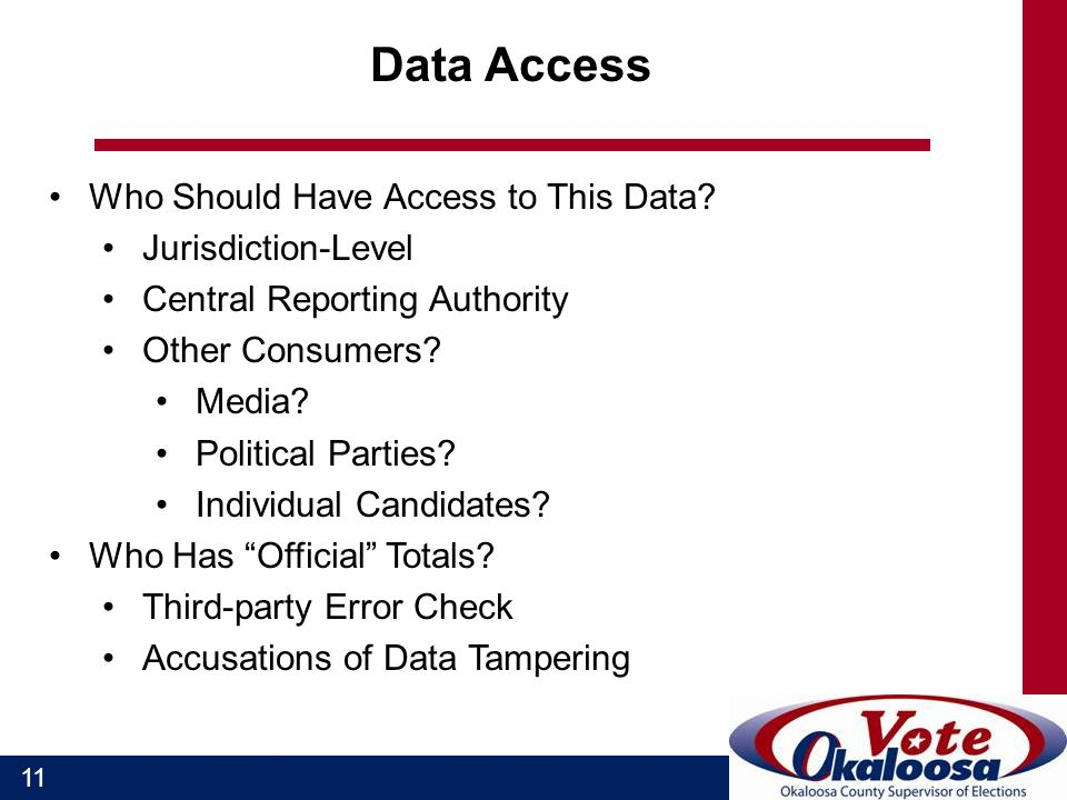 11 Data Access Who Should Have Access to This Data.