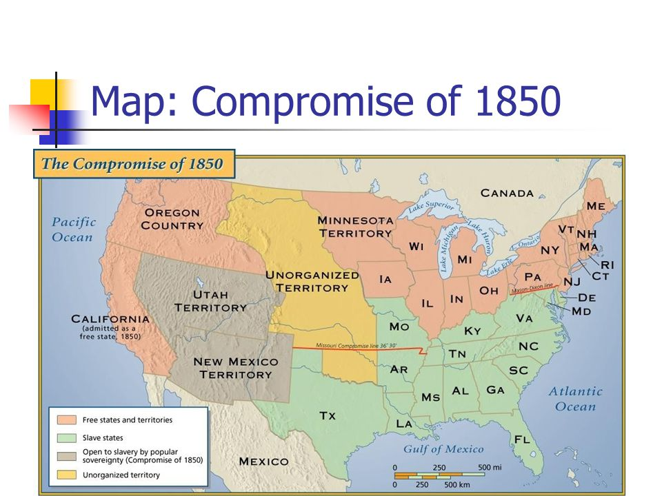 Map: Compromise of 1850