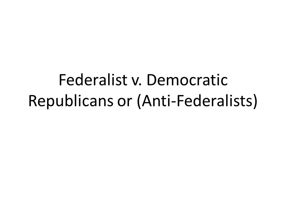 Who is a Federalist.