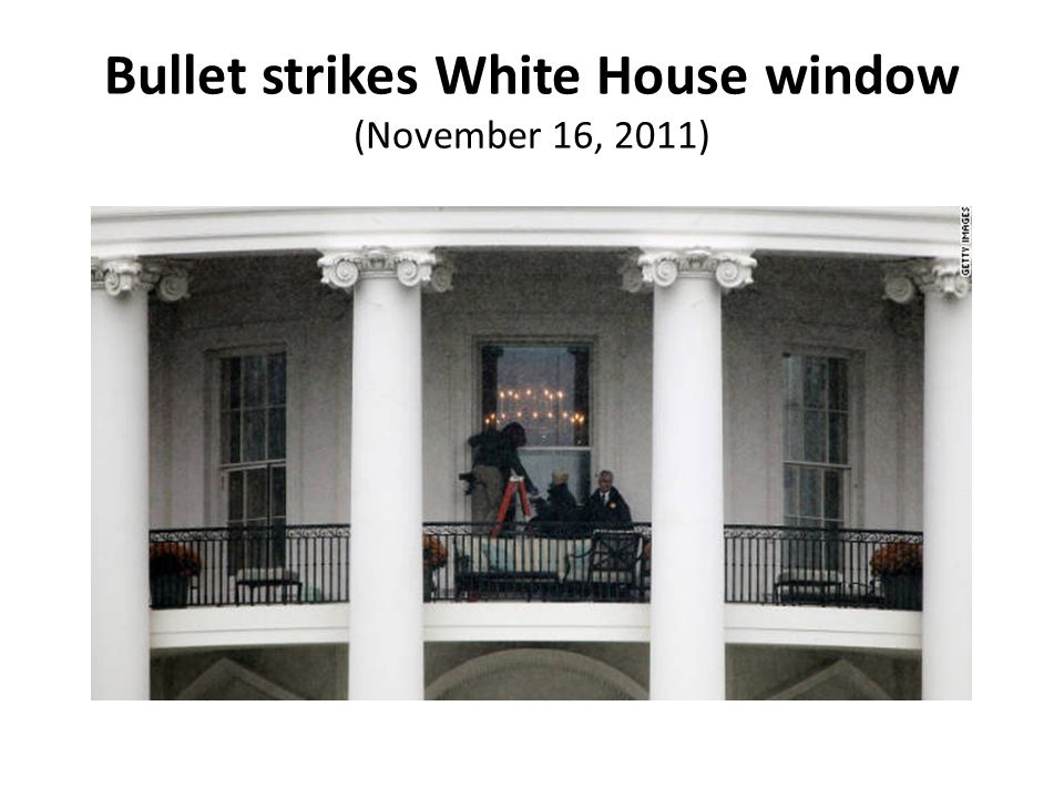 Bullet strikes White House window (November 16, 2011)