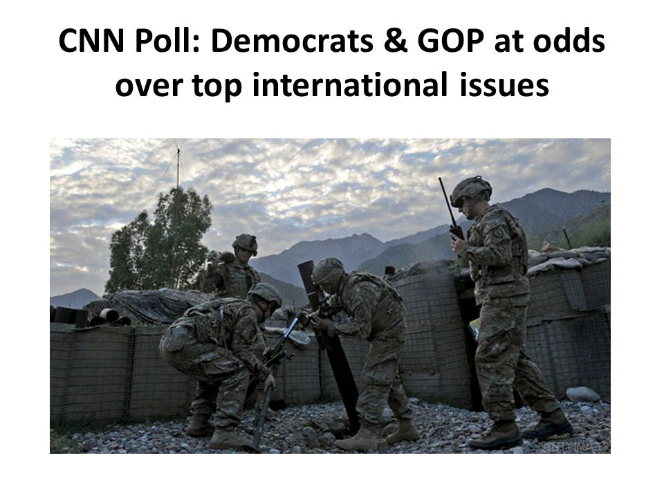 CNN Poll: Democrats & GOP at odds over top international issues