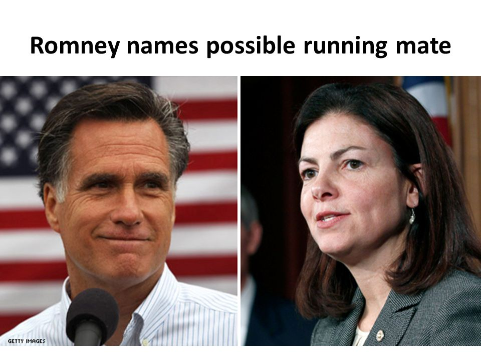Romney names possible running mate