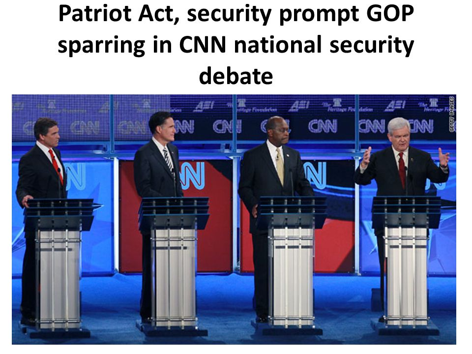 Patriot Act, security prompt GOP sparring in CNN national security debate