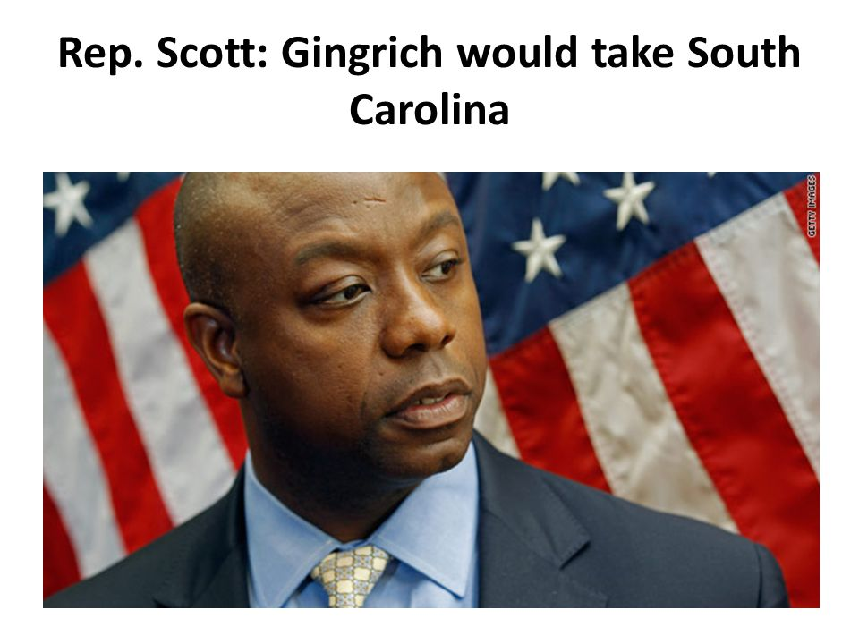 Rep. Scott: Gingrich would take South Carolina
