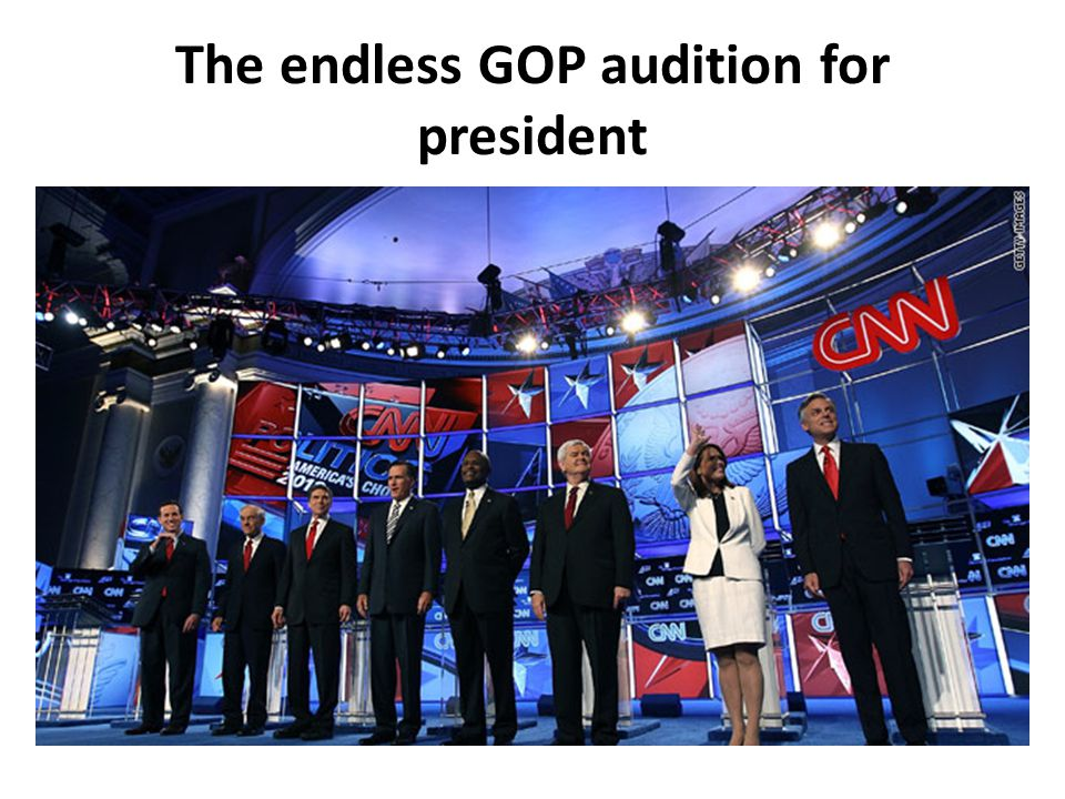 The endless GOP audition for president