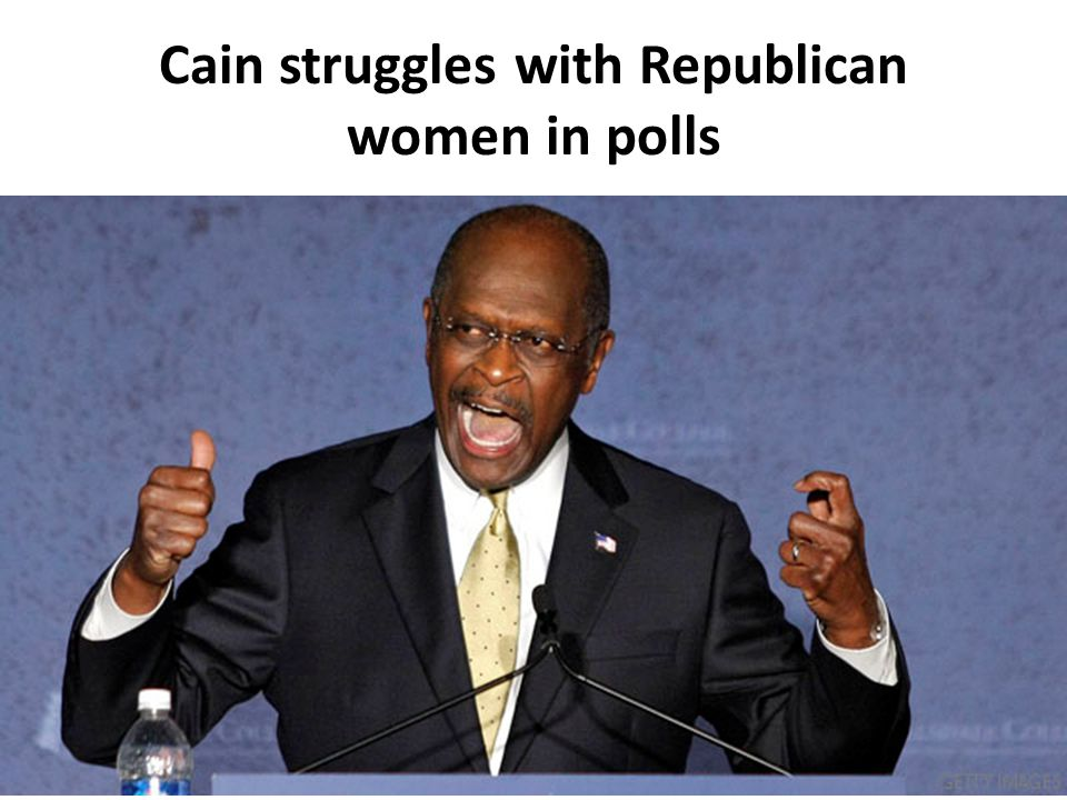 Cain struggles with Republican women in polls