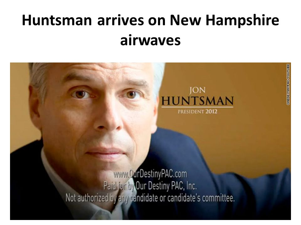 Huntsman arrives on New Hampshire airwaves