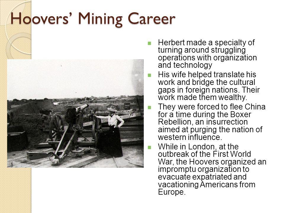 Herbert Clark Hoover Herbert Hoover was born in West Branch, Iowa in 1874.
