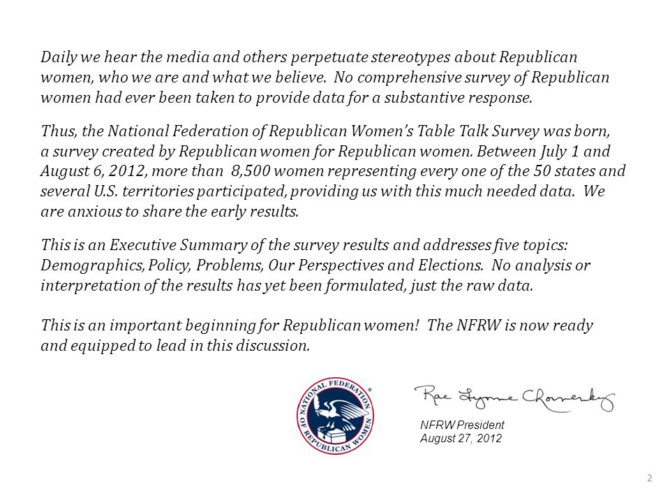 2 Daily we hear the media and others perpetuate stereotypes about Republican women, who we are and what we believe.