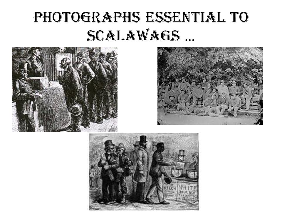 Photographs essential to scalawags …
