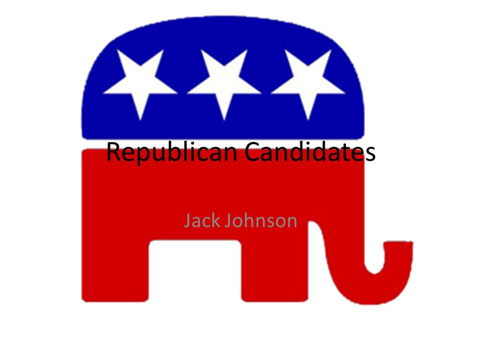 Republican Candidates Jack Johnson