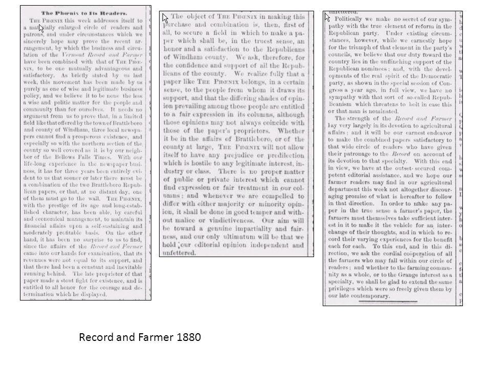 Record and Farmer 1880