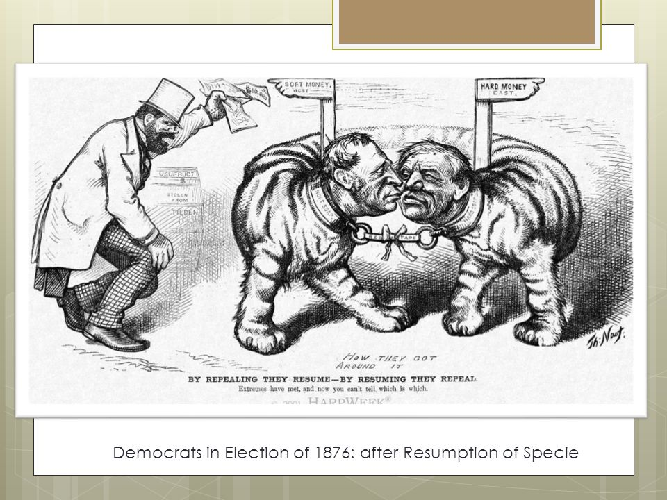 Democrats in Election of 1876: after Resumption of Specie