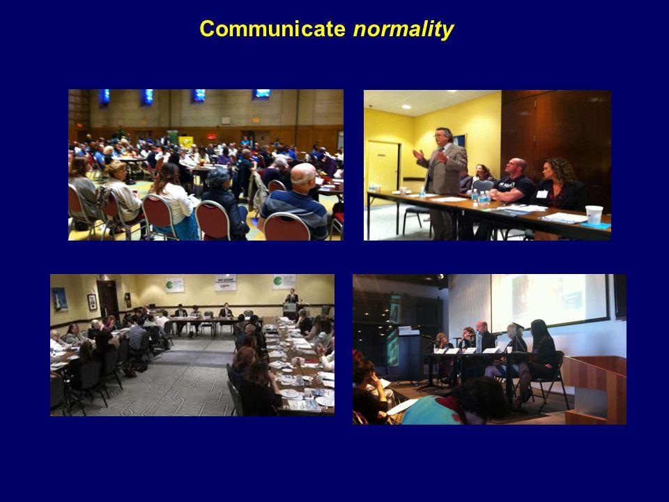 Communicate normality