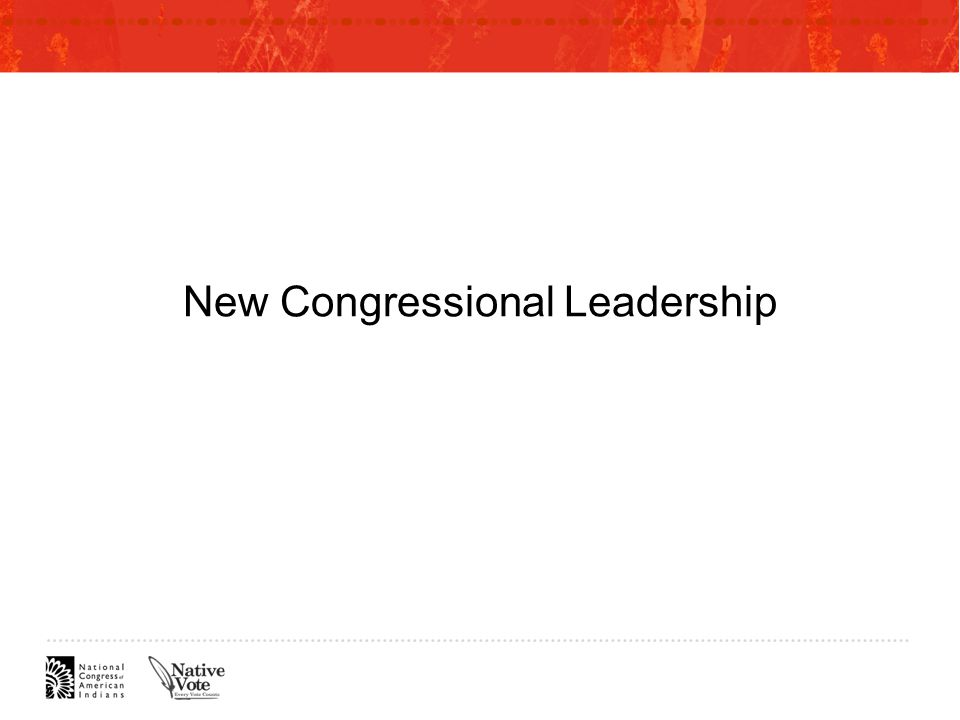 New Congressional Leadership