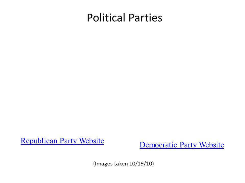 What is your political party.