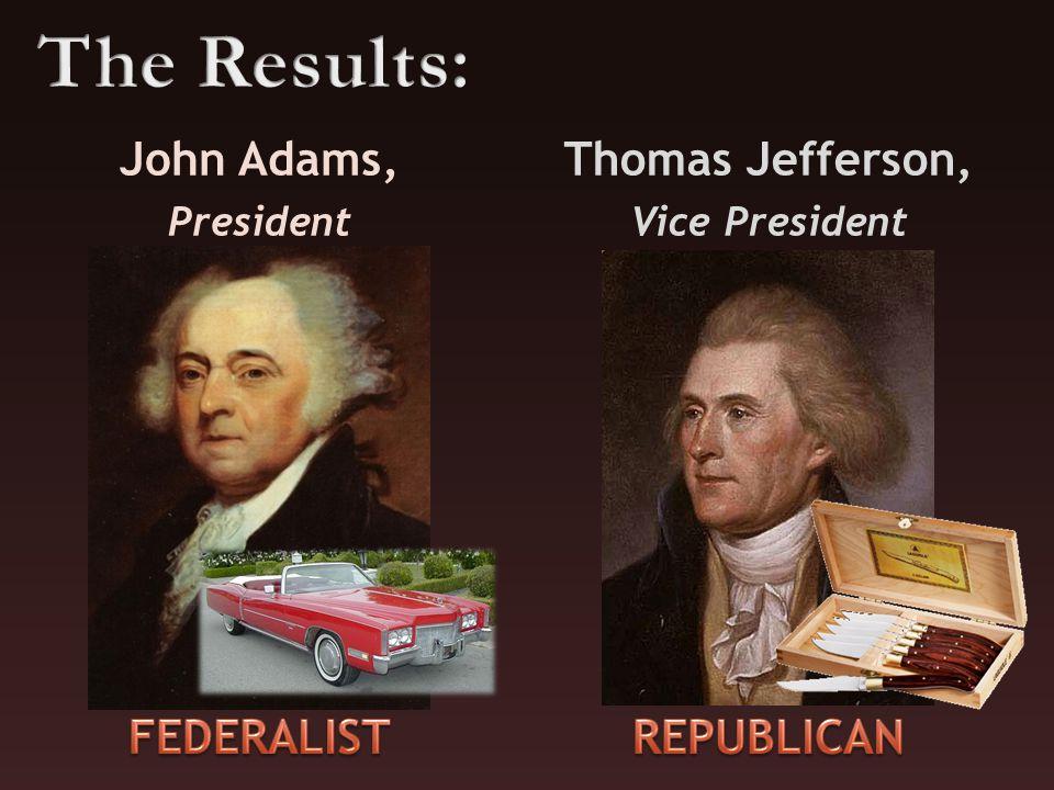 John Adams, President Thomas Jefferson, Vice President