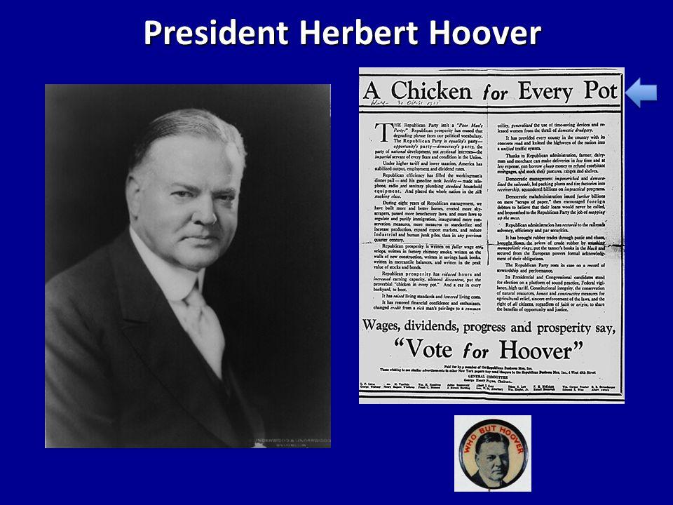 Herbert Hoover speech, NY