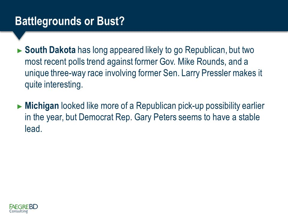 Republican Seats In Question ► Kansas certainly a surprise to Republicans.