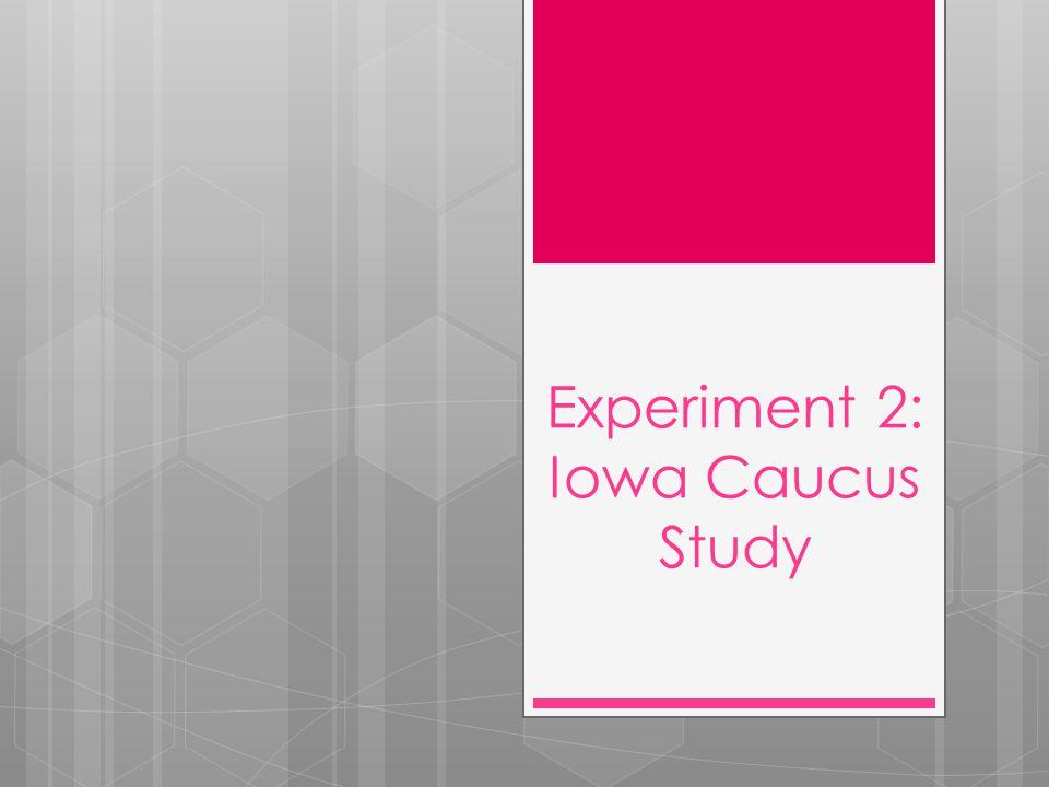 Experiment 2: Iowa Caucus Study