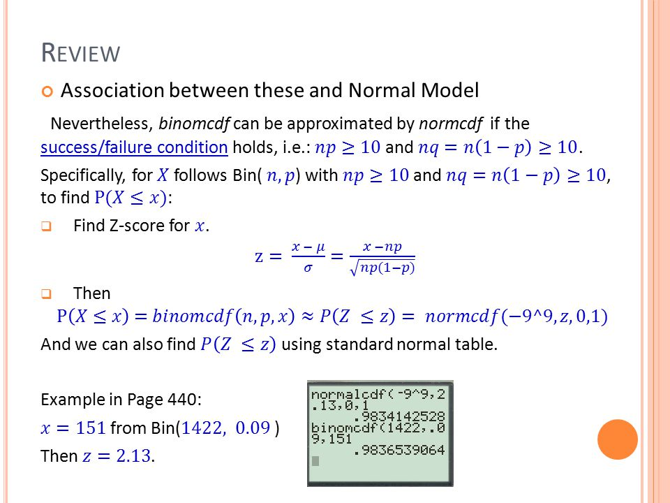 Association between these and Normal Model